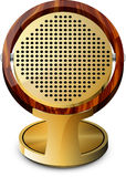 Vecchio microfono Immagine Stock