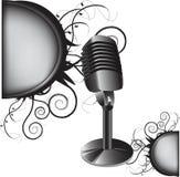 Vecchio microfono Fotografie Stock Libere da Diritti