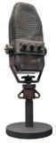 Vecchio microfono isolato Fotografia Stock Libera da Diritti