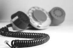 Vecchio microtelefono rosso immagine stock libera da diritti