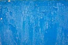 Vecchio modello blu della pittura della sbucciatura della parete obsoleta Immagine Stock Libera da Diritti