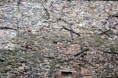 Vecchio modello della parete di muratura di pietra della fortezza Immagini Stock
