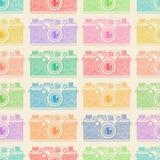Vecchio modello di colore della macchina fotografica Fotografie Stock Libere da Diritti