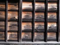 Vecchio modello di legno stagionato di ripetizione di struttura Fotografie Stock