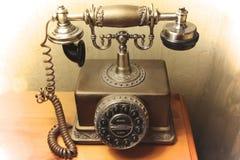 Vecchio modo ed oggetto d'antiquariato del telefono Fotografie Stock