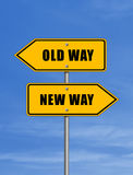 Vecchio modo - nuovo modo Immagini Stock Libere da Diritti