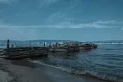 Vecchio molo abbandonato Immagini Stock