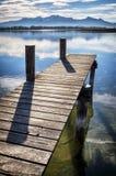 Vecchio molo di legno Fotografia Stock Libera da Diritti