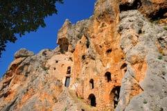 Vecchio monastero greco di Orthdox di Vrontamas Immagini Stock Libere da Diritti