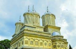 Vecchio monastero in Romania Immagini Stock
