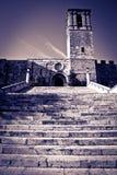Vecchio monastero spagnolo Fotografia Stock