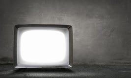 Vecchio monitor della TV Media misti Fotografie Stock Libere da Diritti