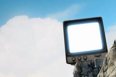 Vecchio monitor della TV Media misti Fotografie Stock
