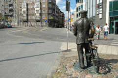 Vecchio monumento di Marych a Poznan, Polonia Fotografie Stock