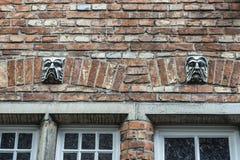 Vecchio monumento storico nella città medievale di Bruges, Belgio Immagini Stock