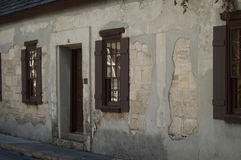 Vecchio monumento storico in StAugustine del centro, Florida Immagini Stock