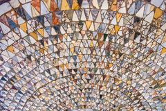 Vecchio mosaico Flor a Venezia immagine stock