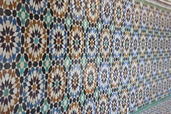 Vecchio mosaico geometrico arabo Immagini Stock