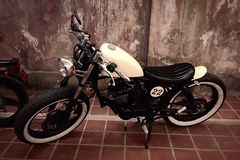 Vecchio motociclo Immagine Stock Libera da Diritti