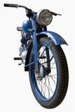 Vecchio motociclo blu Fotografie Stock Libere da Diritti