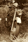 Vecchio motociclo classico Fotografia Stock