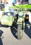 Vecchio motociclo di Camuflage Immagine Stock