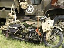 vecchio motociclo militare Fotografia Stock