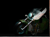 Vecchio motociclo rotto Fotografia Stock Libera da Diritti