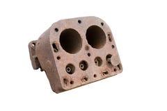 Vecchio motore a combustione (arrugginito) Immagine Stock