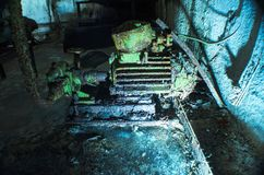 Vecchio motore, con la pittura della sbucciatura Immagine Stock Libera da Diritti