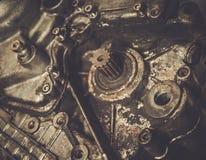 Vecchio motore del motociclo Fotografia Stock