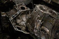 Vecchio motore grasso Fotografie Stock Libere da Diritti