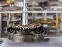 Vecchio movimento a orologeria meccanico Immagine Stock Libera da Diritti