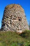 Vecchio mulino di pietra Fotografia Stock