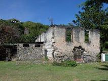 Vecchio mulino di zucchero su Bequia Immagini Stock