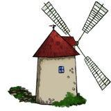 Vecchio mulino a vento illustrazione vettoriale