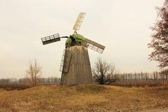 Vecchio mulino a vento Fotografie Stock Libere da Diritti