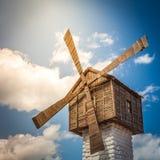 Vecchio mulino a vento bulgaro Fotografia Stock