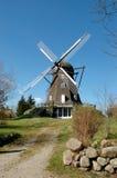 Vecchio mulino a vento danese Fotografie Stock Libere da Diritti