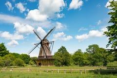 Vecchio mulino a vento danese Fotografia Stock