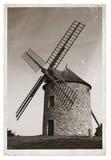 Vecchio mulino a vento della foto d'annata Fotografia Stock Libera da Diritti