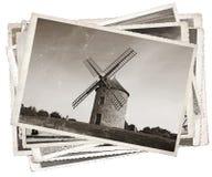 Vecchio mulino a vento delle foto d'annata Immagine Stock