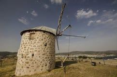 Vecchio mulino a vento di Bodrum Immagini Stock Libere da Diritti
