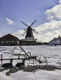 Mulino a vento di Damgaard vicino a Aabenraa in Danimarca Immagini Stock