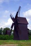 Vecchio, mulino a vento di legno Fotografia Stock