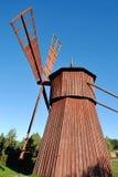 Vecchio mulino a vento di legno Immagine Stock Libera da Diritti
