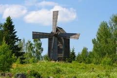 Vecchio mulino a vento finlandese Fotografia Stock Libera da Diritti