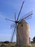 Vecchio mulino a vento a Formentera (Spagna) Fotografia Stock Libera da Diritti