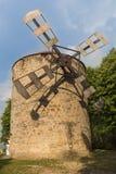 Vecchio mulino a vento in Holic, Slovacchia fotografia stock libera da diritti