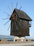 Vecchio mulino a vento in Nessebar Fotografia Stock Libera da Diritti